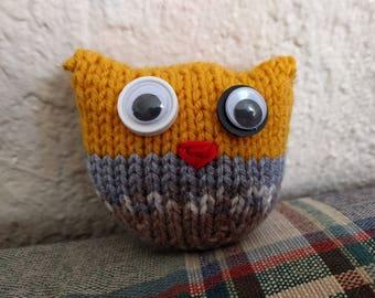 Orange and Beach Owl Stuffy