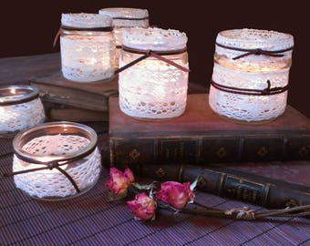 Glass jars for candle