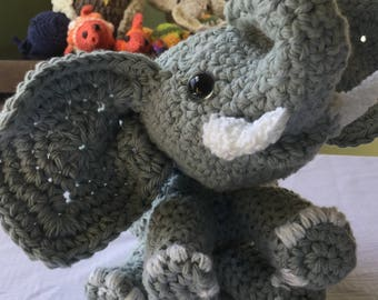 Crochet Elephant Plush Toy