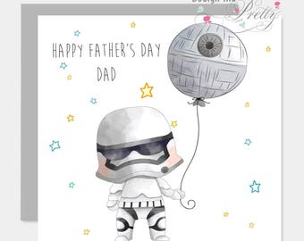 Star Wars Stormtrooper Fathers Day Card - Dad Daddy