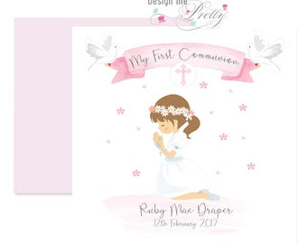 My First Holy Communion Card