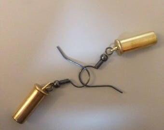 Dangly .22 Caliber Bullet Earrings