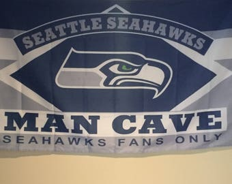 Seattle Seahawks Man Cave Wall Flag