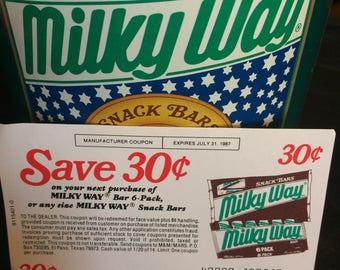 Vintage Milky Way Snack Bars Tin