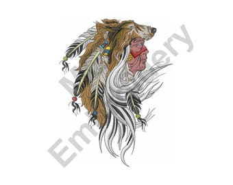 Indian Chief - Machine Embroidery Design