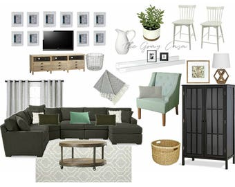 Living room | E-design | DIGITAL FILE