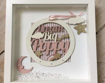 New Baby Gift/Birthday Gift/Personalised Gift/Personalised Frame/Dream catcher/Christening Gift/Nursery Decor