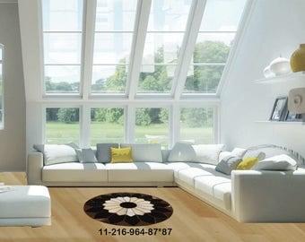 Modern Carpet Cowhide Rug 11-216-964-87*87
