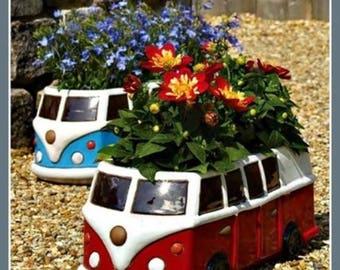Unique, quirky, stylish Campervan Planters