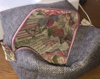 Handmade Tweed Makeup Bag