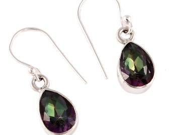 Mystic quartz silver earrings
