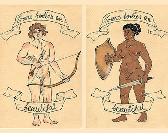 Trans Bodies are Beautiful Stickers