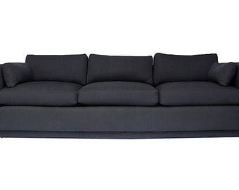 Directional sofa w/ new navy upholstery