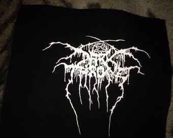 Darkthrone Logo Black Metal Black Canvas Patch