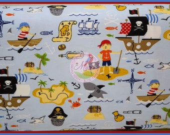 Pirates Pirates Simon Swafing light blue Jersey fabric