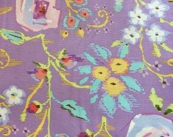 Dena Designs Purple Floral Meadow Fabric BTY