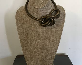 Brown toned bendable 8mm snake necklace/choker