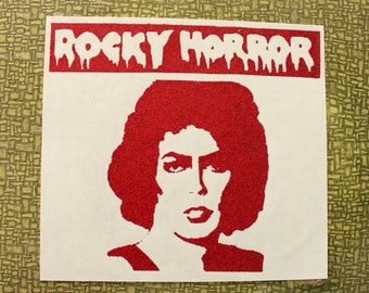 Rocky Horror Picture Show heat press transfer iron on for t-shirts, sweatshirts - red gold or silver glitter