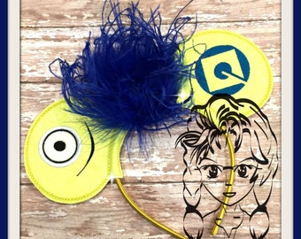 YeLLOW FrIEND Little Guy Inspired (3 Piece) Mr Miss Mouse Ears Headband ~ In the Hoop ~ Downloadable DiGiTaL Machine Emb Design by Carrie