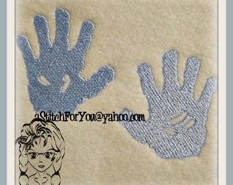 Baby Feet & Hands Fill Stitch Design - Perfect for a quilt or gift - INSTANT Download Machine Embroidery Design by Carrie