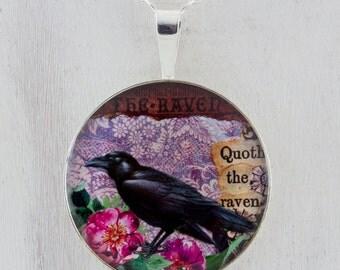 The Raven Sterling Silver Pendant tartx