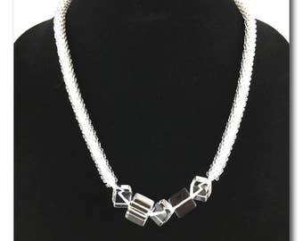 Ice Princess, kumihimo necklace
