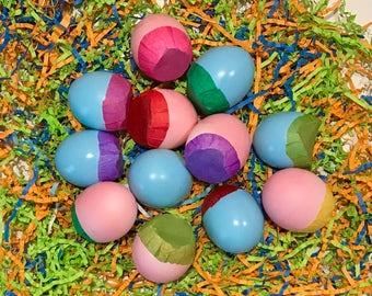 Gender Reveal Party Confetti Eggs Cascarones Baby Shower - 3 Dozen