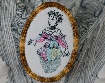 lady spring pin