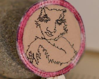 furry person pin