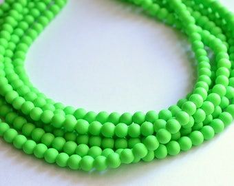 CLEARANCE- The Michelle- Green Neon Statement Necklace