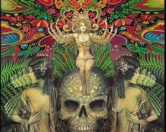 Mind Garden 20x24 Poster Fine Art Print Pagan Mythology Psychedelic Bohemian Gypsy Witch Goddess Art