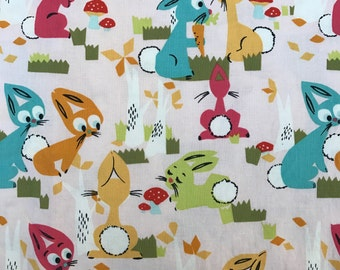 Weighted Blanket - Adult or Child - Colorful Rabbits - Choose size (up to 15 lbs) and minky color - custom