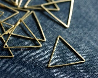 Equilateral Triangles 25mm (Thicker) - Raw Brass - 24pcs - Triangle Connector, Brass Triangle, Triangle Link, Triangle Ring