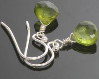Little Peridot Earrings. Sterling Silver. Genuine Gemstone. August Birthstone. Lightweight Earrings. f17e027