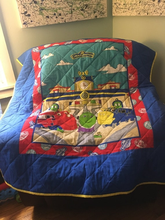 Chuggington Toddler Bed Quilt FREE SHIPPING
