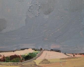 October Rain, Original Acrylic Landscape Painting on Panel, Ready to Hang, Stooshinoff