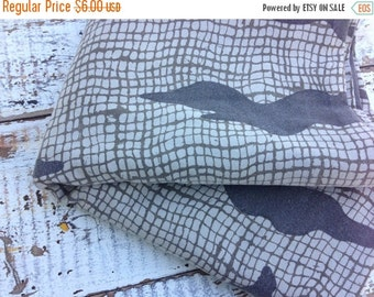 SALE- Modern Brown Fabric-Reclaimed Fabric-Earthy Print