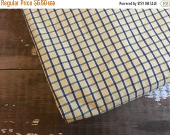40% OFF- Classic Plaid Fabric-Reclaimed Bed Linens-Cabin Look-Navy and Yellow