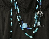 Triple Strand Fantasy Bead Necklace
