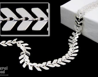 6.5mm Bright Silver Chevron Chain #CC60