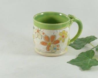 Tea cups, ceramic coffee mug, latte cup, cappuccino mug, unique coffee cup, soup mug, save the bees mug, ceramics and pottery  778
