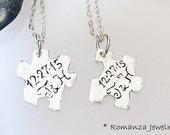 Couples Personalized Letter Puzzle Piece Set Necklace