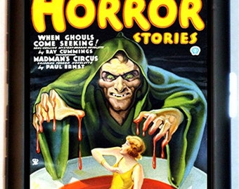 Horror Stories 1939 Pulp Magazine Zombies Cigarette Case Business Card Holder Wallet