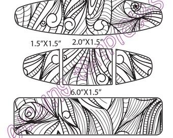 Digital Pattern for Etching Cuff Bracelet, Download -DT-VM-A-9377