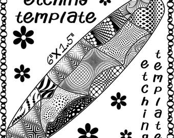 Patch Work Making jewelry Etching Patch work Cuff pattern Download DT-favor-swa-2