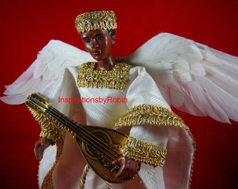 African American Angel Male Angel  Handcrafted