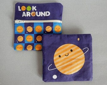 Kawaii Coin Purse - Happy Planet in Space