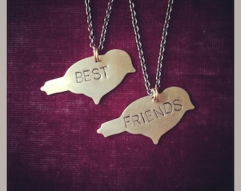Best Friends Birdy Necklace Pair