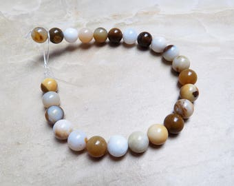 Polka Dot Chalcedony beads