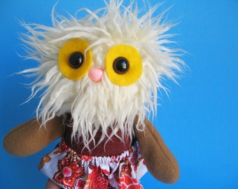 Yeti Monster Girl Doll Abominable Snowman Twirly Skirt Stuffed animal Plush